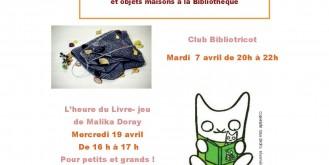Bibliothèque municipale : les rendez-vous d'Avril