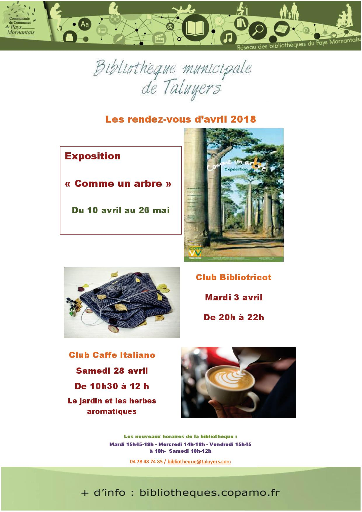 2018-04 BIBLIOTHEQUE Animations Taluyers  avril 18