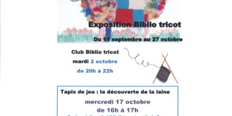 BIBLIOTHEQUE : PROGRAMME du mois d'OCTOBRE